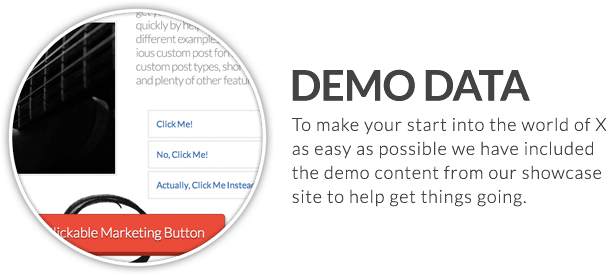 x feature small demo data - X | The Theme