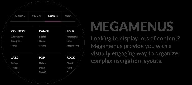 x feature small megamenus - X | The Theme