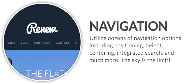 x feature small navigation - X | The Theme
