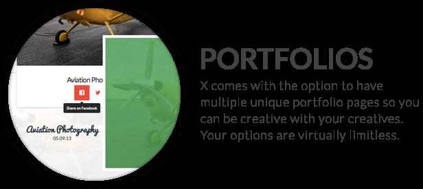 x feature small portfolios - X | The Theme