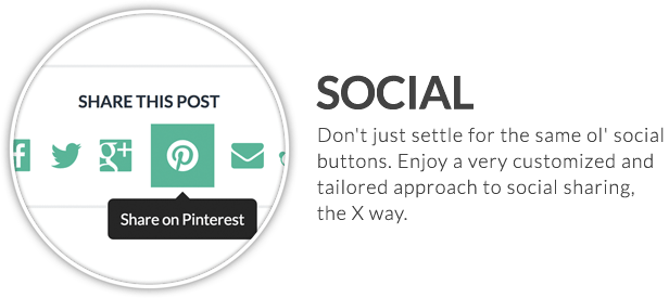 x feature small social - X | The Theme