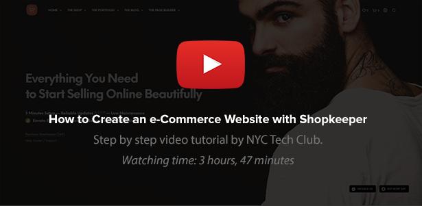 youtube - Shopkeeper - eCommerce WordPress Theme for WooCommerce