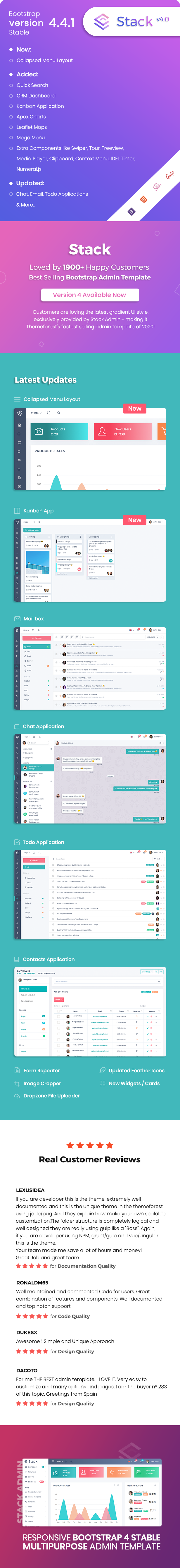 01 stack clean responsive bootstrap4 admin dashboard template - Stack - Clean Responsive Bootstrap 4 Admin Dashboard Template