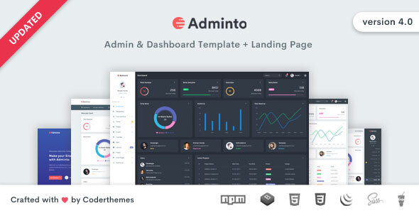 01 adminto.  large preview - Adminto - Admin Dashboard Template