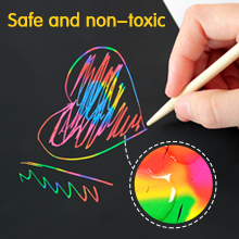 0bcd8f97 0bee 42c1 acf1 72bd0bb18a80.  CR0,0,220,220 PT0 SX220 V1    - ZMLM Scratch Paper Art Set, 50 Piece Rainbow Magic Scratch Paper for Kids Black Scratch it Off Art Crafts Notes Boards Sheet with 5 Wooden Stylus for Easter Party GameChristmas Birthday Gift
