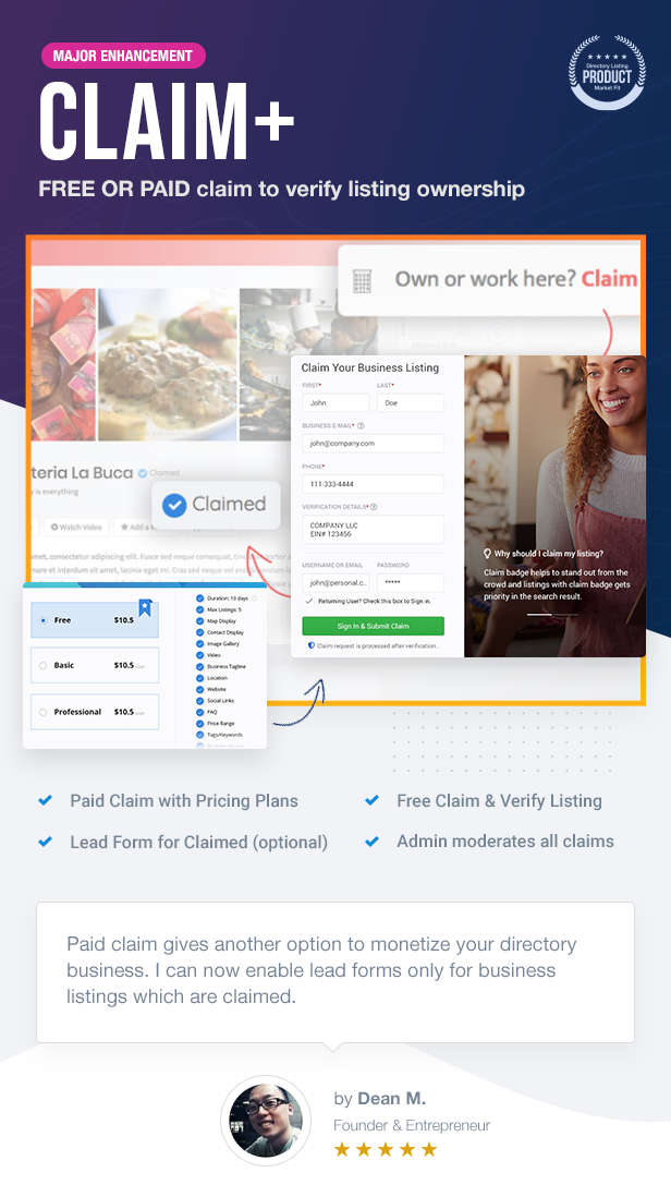12 CLAIM - ListingPro - WordPress Directory Theme