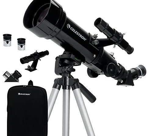1596595913 41IDEDDz6LL. AC  482x445 - Celestron - 70mm Travel Scope - Portable Refractor Telescope - Fully-Coated Glass Optics - Ideal Telescope for Beginners - BONUS Astronomy Software Package