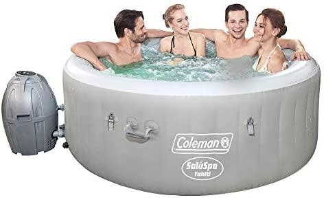 1596726213 41jBlsBwciL. AC  - Coleman Saluspa 71 x 26 Tahiti Airjet Hot Tub Spa (Gray)