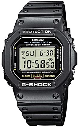 1596812805 5132AELj1CL. AC  - Casio Men's G-Shock Quartz Watch with Resin Strap, Black, 20 (Model: DW5600E-1V)