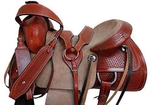 1597593759 51kxVBQQ7ZL. AC  - Orlov Hill Leather Co 15 16 17 Roper Ranch Roping Wade Type Trail Pleasure TACK Horse Western Saddle