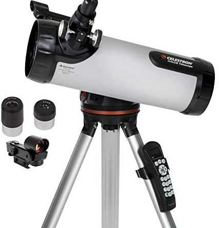 1597680293 41CTe62sgTL. AC  427x445 - Celestron - 114LCM Computerized Newtonian Telescope - Telescopes for Beginners - 2 Eyepieces - Full-Height Tripod - Motorized Altazimuth Mount - Large 114mm Newtonian Reflector