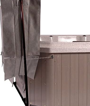 1597810256 41uEOYwhxgL. AC  380x445 - Smart Spa CoverClassic Classic Hot Tub Cover Lifter, One Size, Black