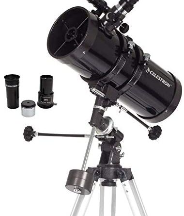 1598765278 41jOjtgbCML. AC  380x445 - Celestron - PowerSeeker 127EQ Telescope - Manual German Equatorial Telescope for Beginners - Compact and Portable - BONUS Astronomy Software Package - 127mm Aperture