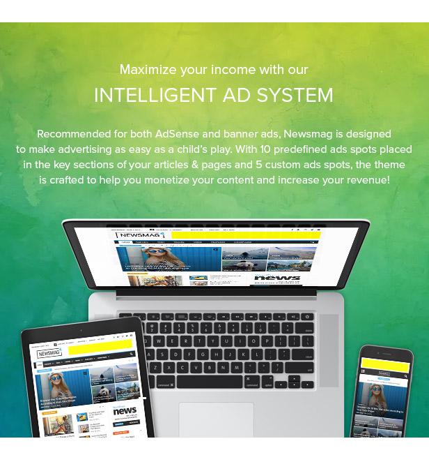 18 ads - Newsmag - Newspaper & Magazine WordPress Theme