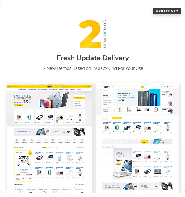 2.2 update - Electro Electronics Store WooCommerce Theme