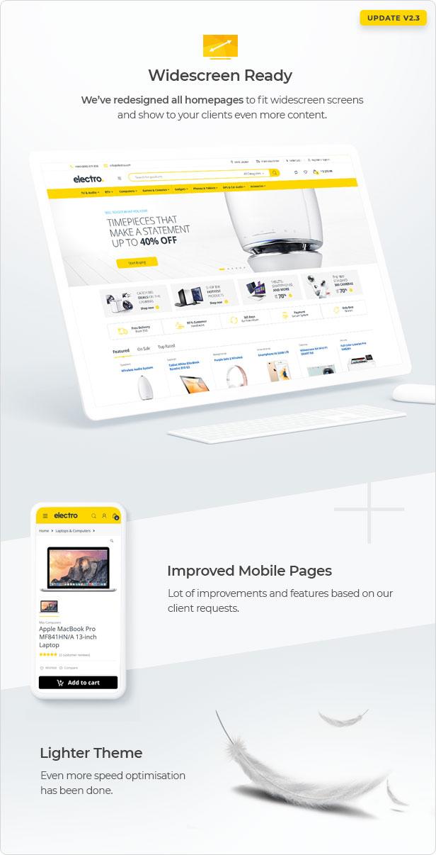 2.3 update - Electro Electronics Store WooCommerce Theme