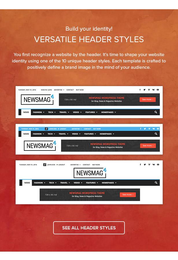 27 headers - Newsmag - Newspaper & Magazine WordPress Theme