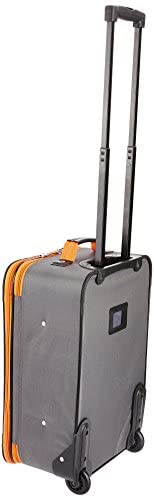 31fNquHr1SL. AC  - Rockland Fashion Softside Upright Luggage Set, Charcoal, 2-Piece (14/20)