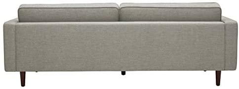 "31iUzwMw7iL. AC  - Amazon Brand – Rivet Aiden Mid-Century Sofa with Tapered Wood Legs, 87""W, Light Grey"