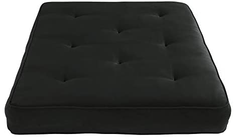 31jpWNsuHeL. AC  - DHP 8-Inch Independently Encased Coil Futon Mattress, Full Size, Black, Frame Not Included