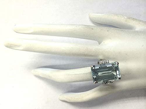 31oCelozsZL. AC  - Vintage Women 925 Sterling Silver Aquamarine Gemstone Ring Wedding Jewelry Gift