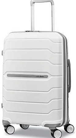31rLta6R8L. AC  247x445 - Samsonite Freeform Hardside Expandable with Double Spinner Wheels, White, Carry-On 21-Inch