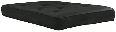 31u5rWIphKL. AC  - DHP 8-Inch Independently Encased Coil Futon Mattress, Full Size, Black, Frame Not Included