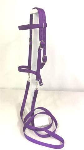 31vwOS9UV9L. AC  - Party Ponies Miniature Horse/SM Pony Bareback Saddle PAD Set with BITLESS Bridle - Purple Stary Night Set
