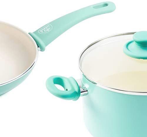 31xicUXgJoL. AC  - GreenLife Soft Grip 16pc Ceramic Non-Stick Cookware Set, Turquoise - CC001007-001