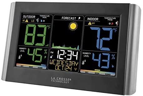 410AlVFtiqL. AC  - La Crosse Technology C85845-1 Color Wireless Forecast Station