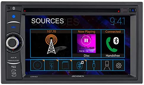 411SywXGtUL. AC  - JENSEN CDR462 6.2 inch LED Multimedia Touch Screen Double Din Car Stereo |CD & DVD Player | Push to Talk Assistant | Bluetooth | Steering Wheel Control | USB & microSD Ports