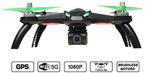 412ZwCYz4TL. AC  - Contixo F20 GPS RC Quadcopter Photography Drone with Camera for Adults - 5GHz WiFi 1080P FHD Gimbal Camera - 20 Minutes Flight Time - 4 Brushless Motors with 90° Adjustable Camera for Advanced Selfie