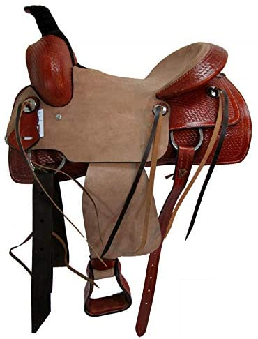 4131AtEI EL. AC  - Orlov Hill Leather Co 15 16 17 Roper Ranch Roping Wade Type Trail Pleasure TACK Horse Western Saddle