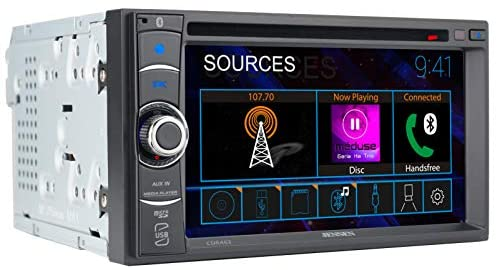 413M9MZSFfL. AC  - JENSEN CDR462 6.2 inch LED Multimedia Touch Screen Double Din Car Stereo |CD & DVD Player | Push to Talk Assistant | Bluetooth | Steering Wheel Control | USB & microSD Ports