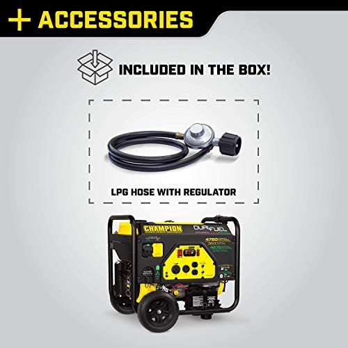 414FqnxO2 L. AC  - Champion 3800-Watt Dual Fuel RV Ready Portable Generator with Electric Start