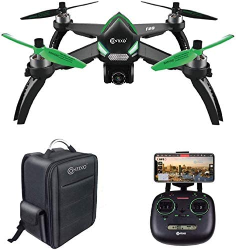 415OekmDMYL. AC  - Contixo F20 GPS RC Quadcopter Photography Drone with Camera for Adults - 5GHz WiFi 1080P FHD Gimbal Camera - 20 Minutes Flight Time - 4 Brushless Motors with 90° Adjustable Camera for Advanced Selfie