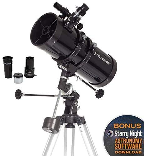 416erRn1YSL. AC  - Celestron - PowerSeeker 127EQ Telescope - Manual German Equatorial Telescope for Beginners - Compact and Portable - BONUS Astronomy Software Package - 127mm Aperture