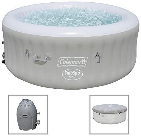 4174zVGj2xL. AC  - Coleman Saluspa 71 x 26 Tahiti Airjet Hot Tub Spa (Gray)
