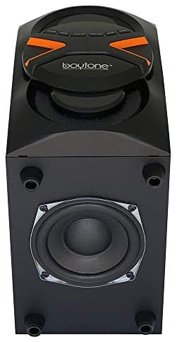 41AQPEMctnL. AC  - Boytone BT-326F, 2.1 Bluetooth Powerful Home Theater Speaker System, with FM Radio, SD USB Ports, Digital Playback, 40 Watts, Disco Lights, Full Function Remote Control, for Smartphone, Tablet.
