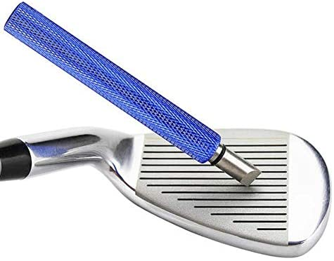 41AQl98GKPL. AC  - Golf Club Groove Sharpener, Re-Grooving Tool and Cleaner for Wedges & Irons - Generate Optimal Backspin - Suitable for U & V-Grooves