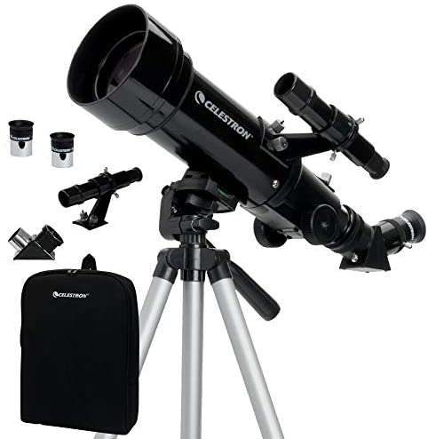 41IDEDDz6LL. AC  - Celestron - 70mm Travel Scope - Portable Refractor Telescope - Fully-Coated Glass Optics - Ideal Telescope for Beginners - BONUS Astronomy Software Package