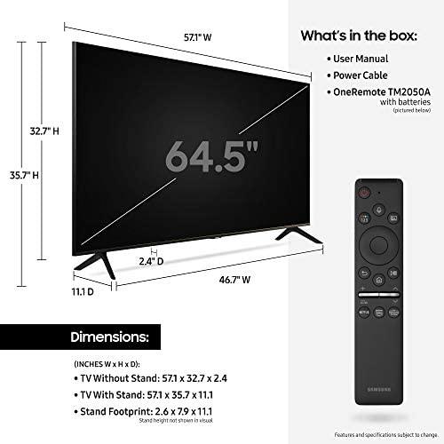 41LtFYKUyOL. AC  - SAMSUNG 65-inch Class Crystal UHD TU-8000 Series - 4K UHD HDR Smart TV with Alexa Built-in (UN65TU8000FXZA, 2020 Model)