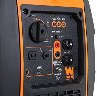 41NNJVHdtiL. AC  - WEN 56200i 2000-Watt Gas Powered Portable Inverter Generator, CARB Compliant