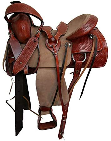 41PkJ0fUSmL. AC  - Orlov Hill Leather Co 15 16 17 Roper Ranch Roping Wade Type Trail Pleasure TACK Horse Western Saddle