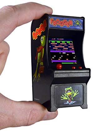 41WanIBifaL. AC  - Tiny Arcade Frogger Miniature Arcade Game, Multicolor
