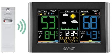 41ZXfKe64hL. AC  - La Crosse Technology C85845-1 Color Wireless Forecast Station