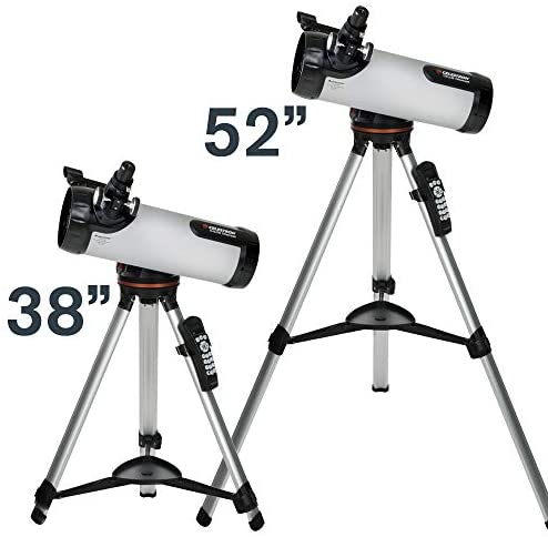 41rH5QWQ2QL. AC  - Celestron - 114LCM Computerized Newtonian Telescope - Telescopes for Beginners - 2 Eyepieces - Full-Height Tripod - Motorized Altazimuth Mount - Large 114mm Newtonian Reflector