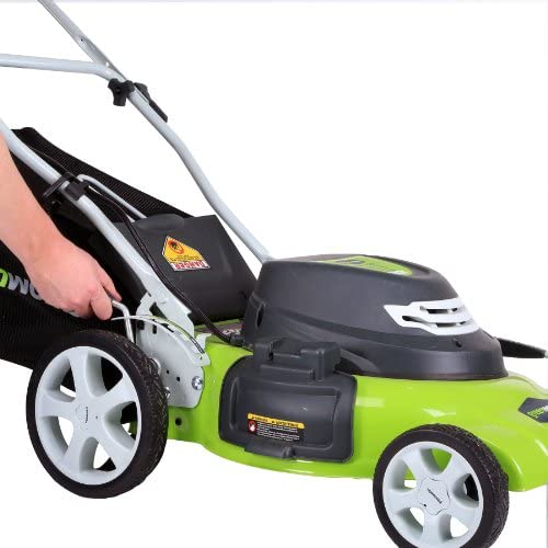 5119ncOUERL. AC  - Greenworks 20-Inch 3-in-1 12 Amp Electric Corded Lawn Mower 25022