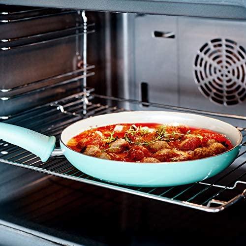 513Z6mcbdXL. AC  - GreenLife Soft Grip 16pc Ceramic Non-Stick Cookware Set, Turquoise - CC001007-001