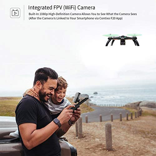 51695b9JGoL. AC  - Contixo F20 GPS RC Quadcopter Photography Drone with Camera for Adults - 5GHz WiFi 1080P FHD Gimbal Camera - 20 Minutes Flight Time - 4 Brushless Motors with 90° Adjustable Camera for Advanced Selfie